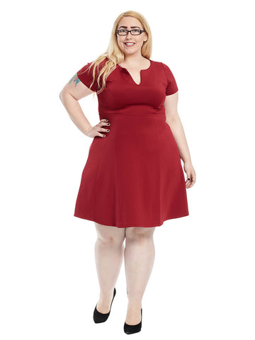 Cora Fit And Flare Dress in Shiraz