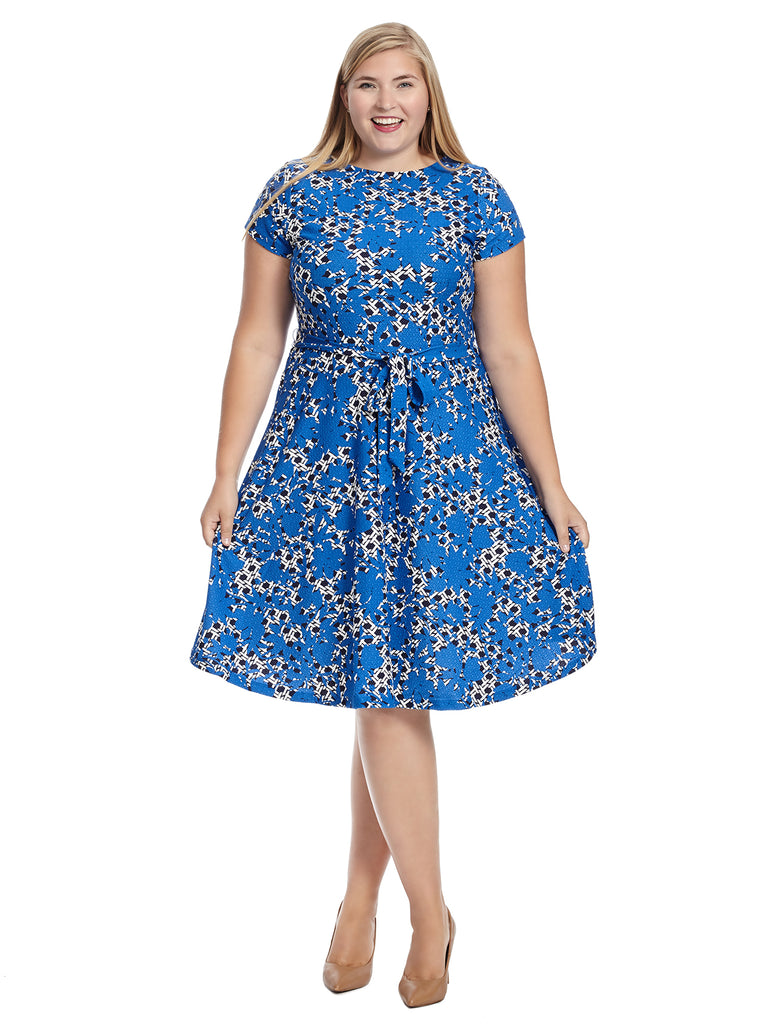 Cap Sleeve Floral Link Illana Dress