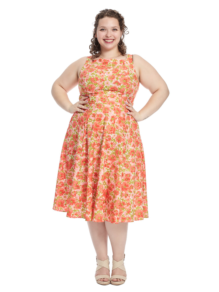 Coral Floral Harriet Dress