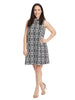 Jacquard Knit Trapeze Sleeveless Dress