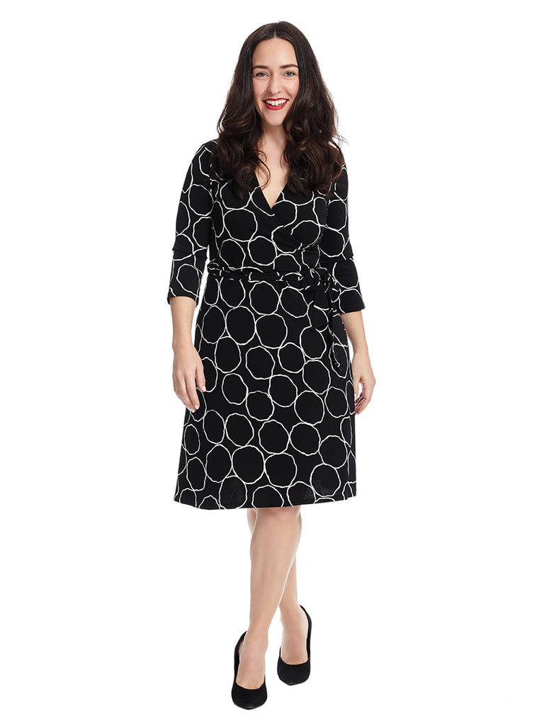 Perfect Wrap Dress In Bubbly