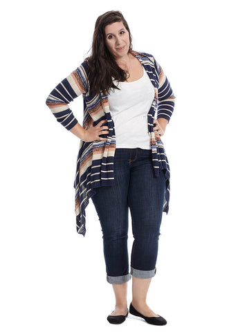 Eclipse Stripe Waterfall Cardigan