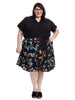 Black Floral Twofer Dress