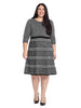 Black And Ivory Stripe Sweater Dress