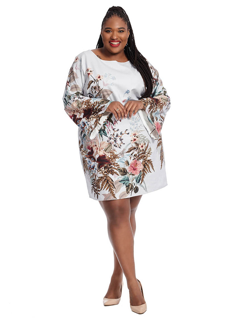 Angela Dress In Camillia Print