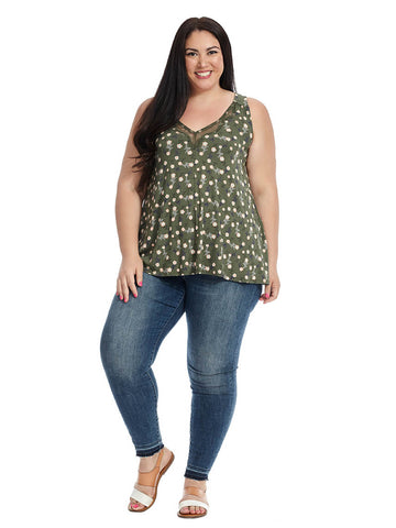 Thyme Floral Racer Back Top