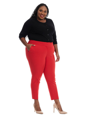 Slim Pant In Vivid Red