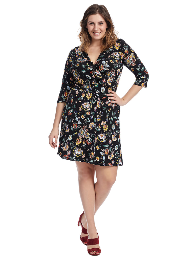 Three-Quarter Sleeve Enchanting Felicity Dress