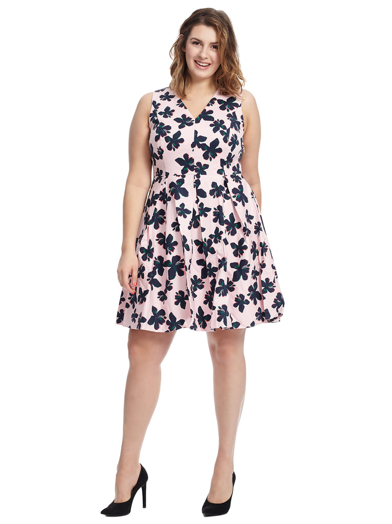 Hibiscus Draper James Fit And Flare Dress