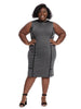 Charcoal Bowery Dress With Black Detail