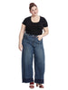 Wide Leg Released Hem Jeans