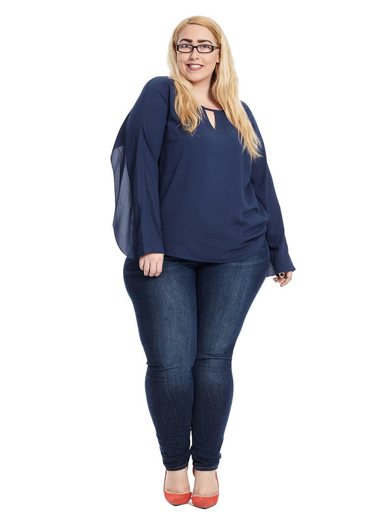 Selma Blouse In Navy