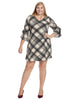 Tie Sleeve Plaid A-Line Dress