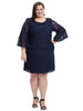 Bell Sleeve Navy Lace Dress