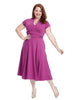 Zip Waist Violet Fit And Flare Dress