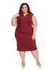 Wine Sheath Dress