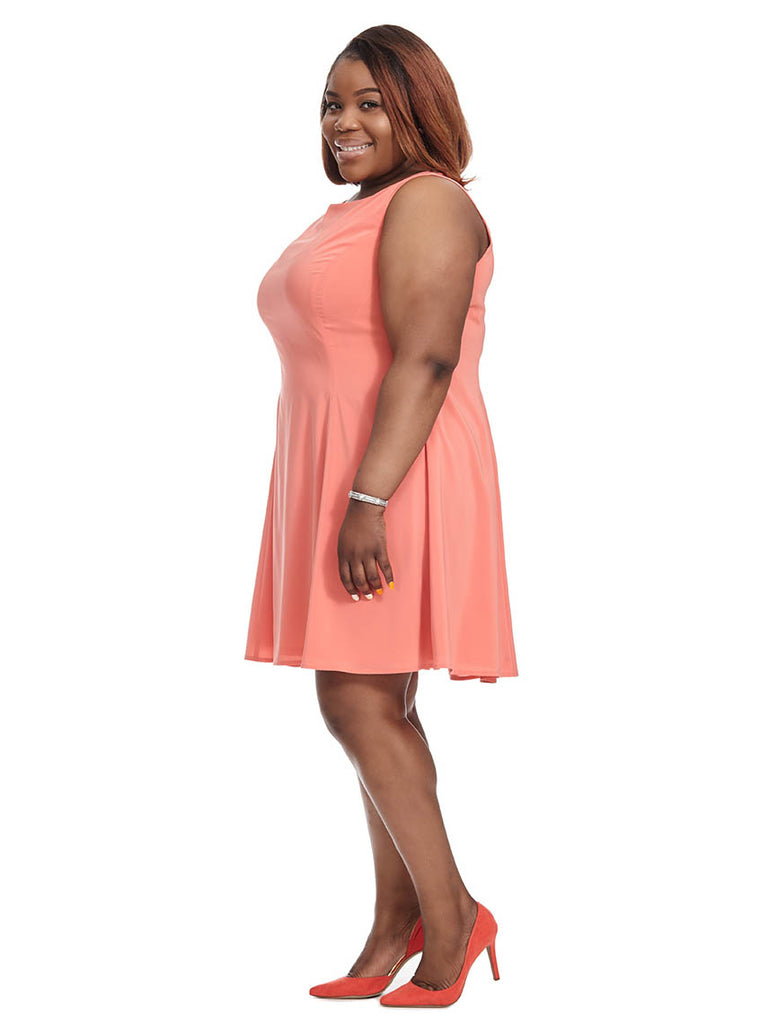 Marilyn Dress In Coral Crush