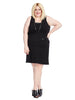 Sleeveless V-Neck Dress In Black