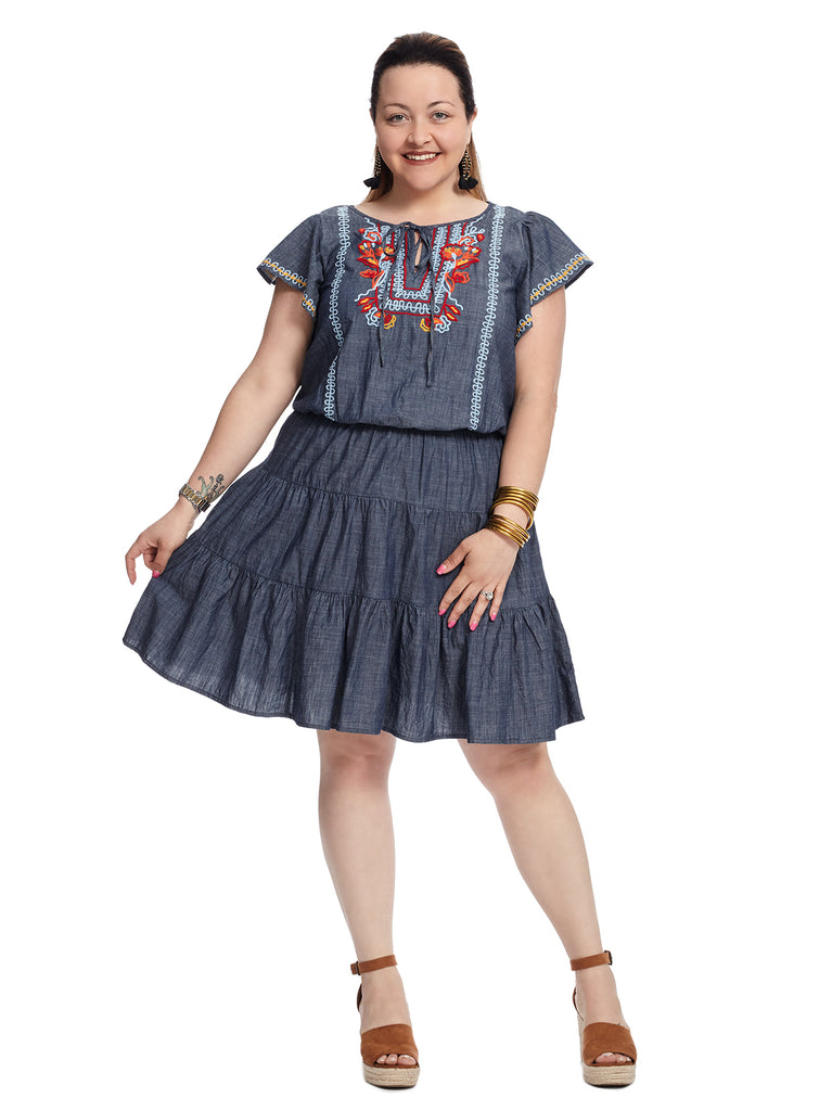 Chambray Tier Dress
