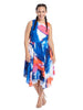 Digital Brushstroke Dress In Multi