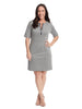 Zipper Detail Grey Fulton Dress