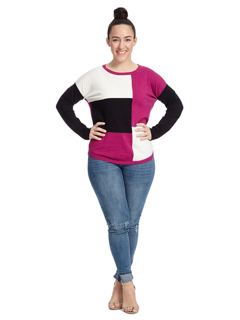 Cranberry Colorblock Sweater