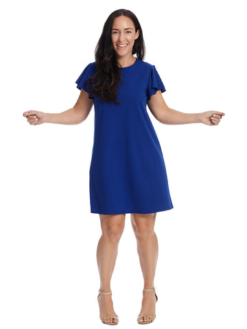 Ruffle Sleeve A-Line Dress