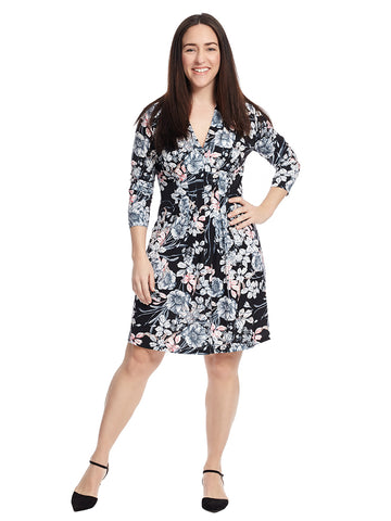 Black Floral Print Tinka Dress
