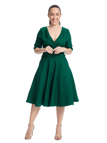 Delores Dress In Green