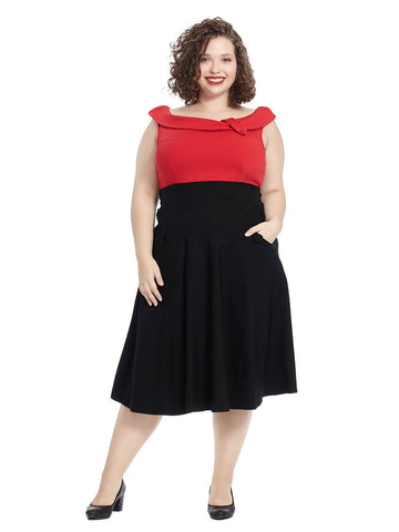 Tippi Dress In Red And Black