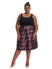 Skirt In Abstract Rose Print