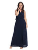 Sleeveless Navy Maxi Dress