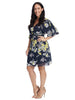 Navy Petals Candice True Wrap Dress