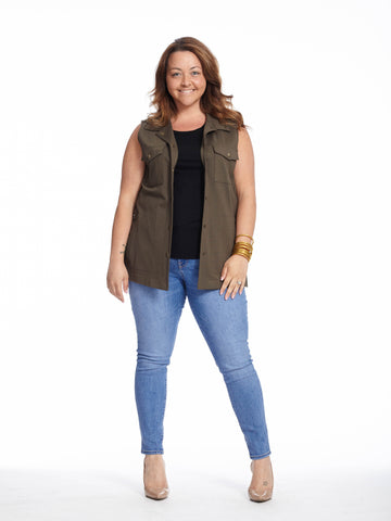 Military Vest In Army Green