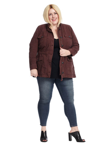 Utility Jacket In Fig