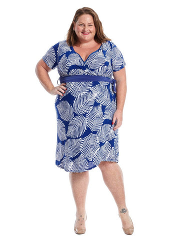 Braylee Dress In Royal Print