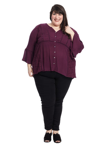 Charlotte Top In Purple