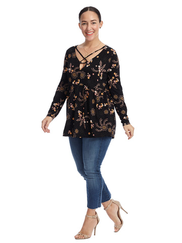 Crisscross Paisley Knit Tunic