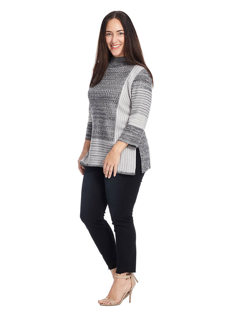Tunic Sweater In Gray