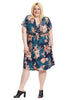 Short Sleeve Dress With Twist Detail In Floral Print