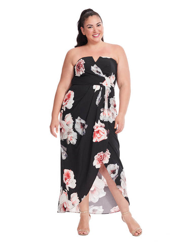 Open Rose Maxi Dress