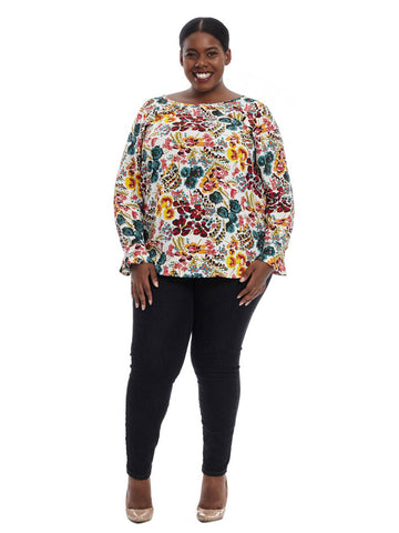 Bouquet Flutter Blouse
