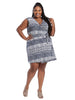 Charmaine Dress In Wax Geo Print