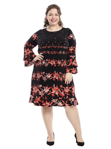Fiona Floral Fit And Flare Dress