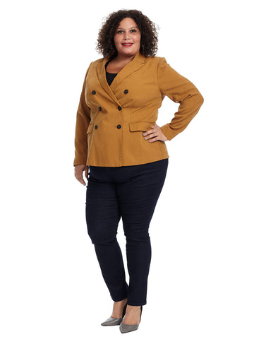 Double Breasted Mustard Blazer