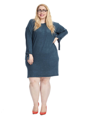 Lanna Tie Sleeve Sweater Dress