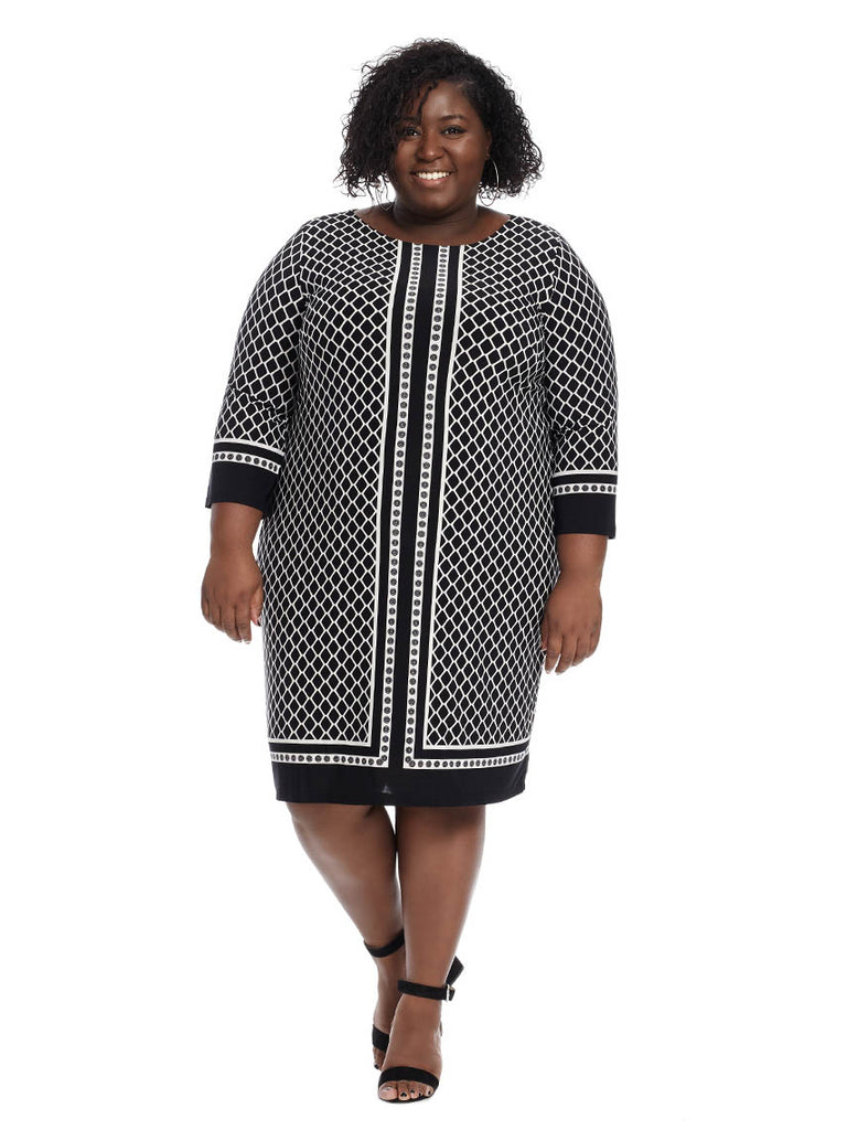 Venechia Print Bell Sleeve Dress