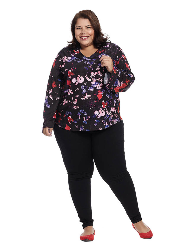 Staci Top In Multi Poppy Print