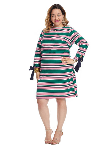 Sleeve Tie Draper James Stripe Dress