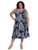 Navy Coral Reef Print True Wrap Dress
